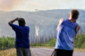 A wildfire burns along the North Fork of the Flathead River on June 27, 2015. Justin Franz   Flathead Beacon
