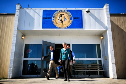 U.S. Secretary of the Interior Sally Jewell visits the Blackfeet Indian Reservation on May 3, 2016. During her visit she toured facilities that are operated by the Department of Interior, including the jail in Browning. Justin Franz | Flathead Beacon