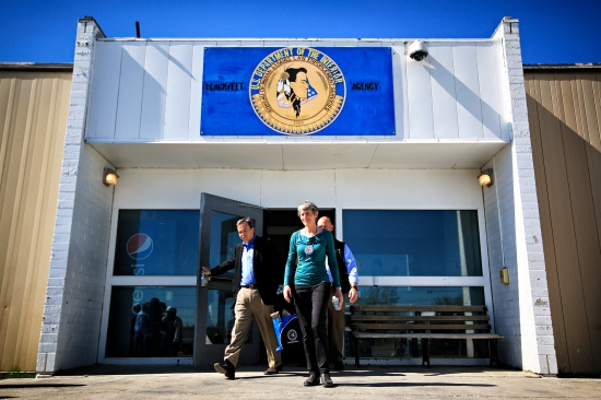 U.S. Secretary of the Interior Sally Jewell visits the Blackfeet Indian Reservation on May 3, 2016. During her visit she toured facilities that are operated by the Department of Interior, including the jail in Browning. Justin Franz   Flathead Beacon