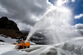 Plowing the Going-to-the-Sun Road.