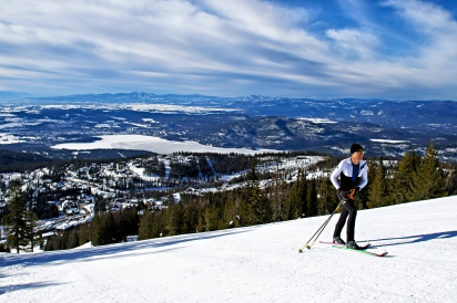 Mike Foote broke the world record for most vertical feet skied in a 24 hour period at Whitefish Mountain Resort on March 17 and 18, 2018. Justin Franz   Flathead Beacon